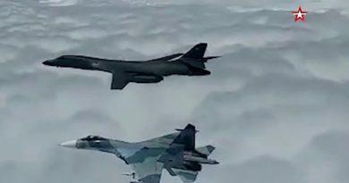 Появиха се кадри с прехват на американски бомбардировач над Черно море