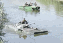 БMП-2 преодолява водни препятствия по време на учение на ЗВО