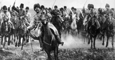 Как казаците нападат германците в конен строй