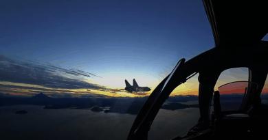 Вижте кадри от нощен прехват с МиГ-31 над Камчатка