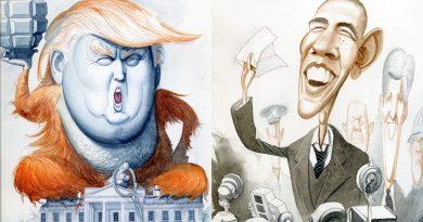 Анимационни чуждестранни лидери и известни личности от руския художник Роман Ген