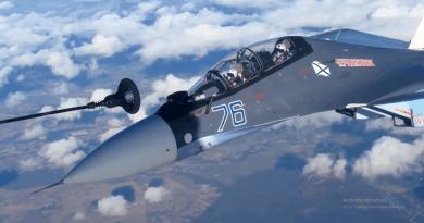 Бойни самолети на Балтийския флот извършиха дозареждане във въздуха