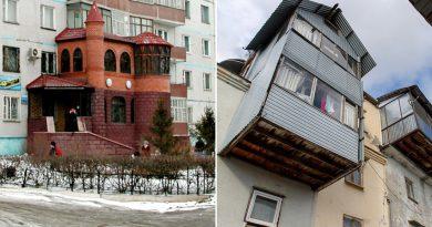 13 шантави балкона от руските градове