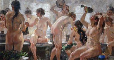 Банята в картините на руските художници